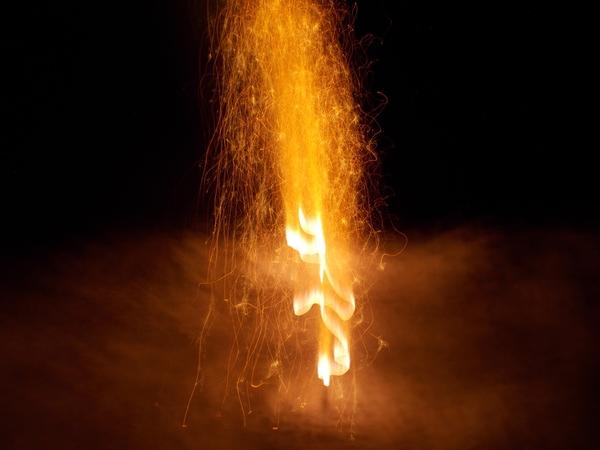 fire, firework, man