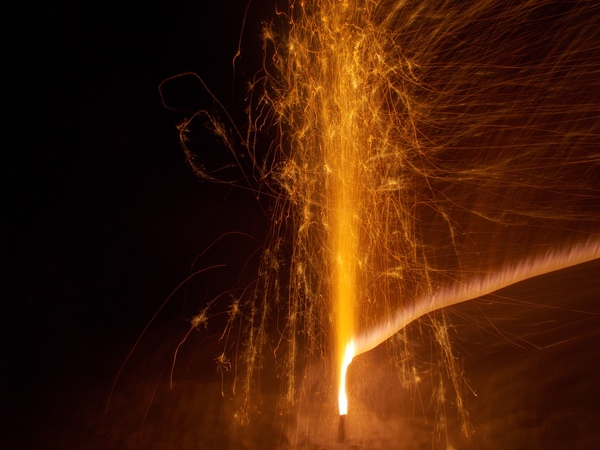 firework, red